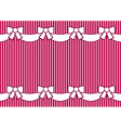 background striped pink with bows vector image vector image