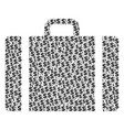 baggage composition of dollar and dots vector image vector image