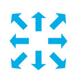 blue thin arrows in 8eight different directions vector image vector image