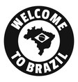 brazil map logo simple black style vector image vector image