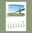 calendar sheet layout august month 2021 year vector image vector image