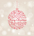 christmas background doodle christmas holiday vector image vector image