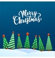 christmas greeting card merry lettering vector image