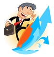 Climbing Up Corporate Ladder vector image
