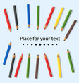 colored pencils baby colorful colored pencils vector image vector image