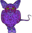 coloring book hand drawn adults cat in vector image vector image