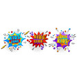 comic colorful bright 3d banners set vector image