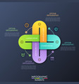 creative infographic design template with 4 vector image vector image