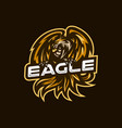 eagle esport gaming mascot logo template vector image