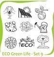 Eco - green life - set vector | Price: 1 Credit (USD $1)