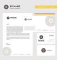 eye ball business letterhead envelope and vector image vector image