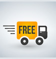 fast and free shipping delivery truck flat icon vector image vector image