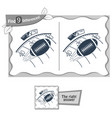 find 9 differences game rugby vector image vector image