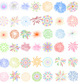 Fireworks Display for New year and all celebration vector image