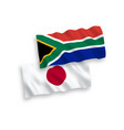 flags japan and republic south africa on a vector image