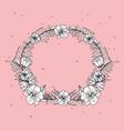floral wreath concept vector image