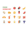 food icon fruits meat milk supermarket products vector image vector image