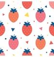 fun strawberries seamless pattern vector image vector image