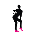 girl with football vector image vector image
