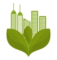 green city ecology buildings vector image vector image