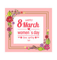 happy 8 march love spring vector image