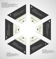 Hexagon from six parts blaxk and white vector image vector image