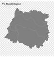 high quality map is a region chile vector image vector image