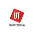 initial letter ut logo template design vector image vector image