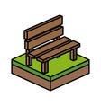 isometric bench design vector image