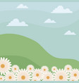 landscape nature with flowers vector image vector image