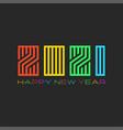 logo 2021 design bright colorful monogram happy vector image