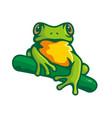 logo green frog logo vector image vector image