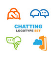 logotypes for chat or messenger vector image