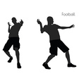 man in Football pose on white background vector image vector image
