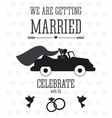 Married design Wedding icon Flat vector image vector image