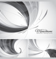 monochrome abstract background vector image vector image