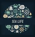 nautical anchor icons circles vector image vector image