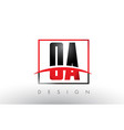 oa o a logo letters with red and black colors and vector image vector image