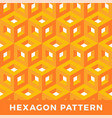 orange cube isometric seamless pattern hexagon of vector image vector image