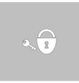 Padlock and key computer symbol vector image