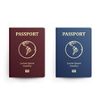 passport with map south america realistic vector image