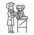 pediatrician doctorwoman doctor doing medical vector image