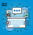 people social media vector image vector image