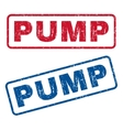 Pump Rubber Stamps vector image vector image