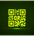 qr code neon icon glowing logo barcode vector image