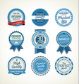 quality retro badge collection 4 vector image vector image