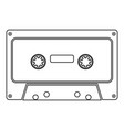 retro audio cassette icon black color flat style vector image