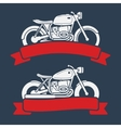 Retro motorcycle logo set vector image vector image