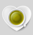 Romantic tea drinking vector image vector image