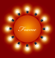 round frame light bulbs - theatre poster vector image vector image